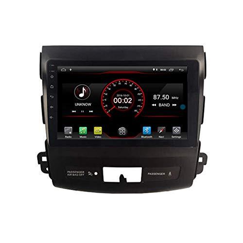 Android 10 Coche GPS Navegación Estéreo Radio para Mitsubishi Outlander 2007 2007 2009 2010 2011 2012 Navi Bluetooth USB WiFi CARPLAY CON CABLETO INTERCADO
