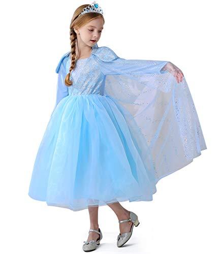 Disfraz de princesa Bella y la Bestia, vestidos de Halloween para fiesta de disfraces de princesa para niña