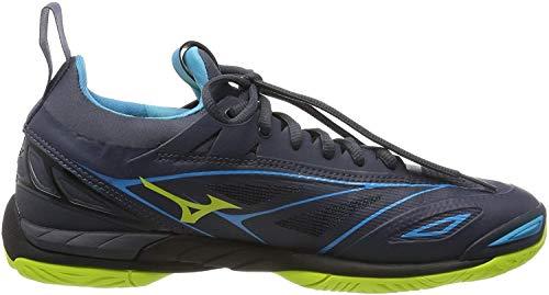 Mizuno Herren Wave Mirage 2.1 Sneakers, Mehrfarbig (O Blue/Syellow/Hawaiocean 001), 42 EU