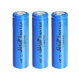 Batería Solar de 3,2 voltios AA 600mAh Batería Recargable Flat Top para Linterna antorcha (3 Piezas)