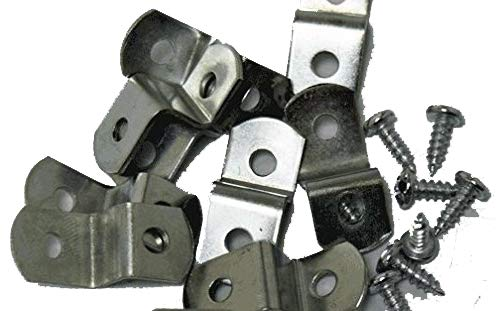 """3/8"""" Canvas Offset Clips Extra Heavy Duty with Screws 20 Pack"""