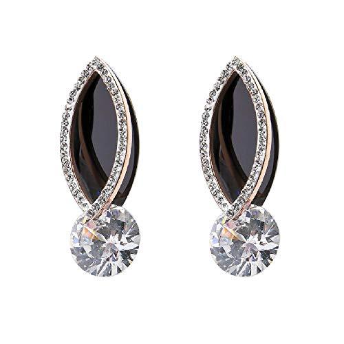Pendientes, gota de agua, circón ovalado, joyería de oreja de alta gama para mujer, 3 * 1 cm