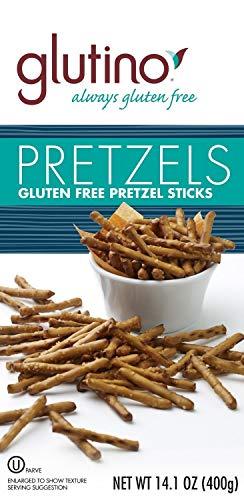 Glutino Gluten Free Pretzel Sticks, 14.1-Ounce Bags (Pack of 6)