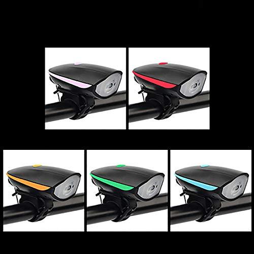 QY-Youth Luz de Bicicleta Recargable USB, Luces para Bicicletas Delantera Profesional de Mmontaña, 5 Modos de Iluminación, Impermeable, ángulo de Haz Ancho,Rojo