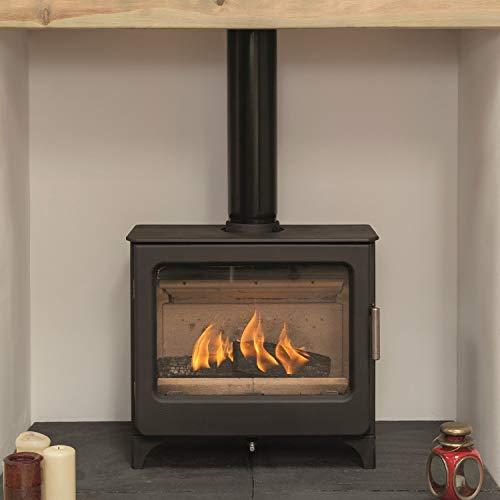 Mendip Ashcott Defra Approved Wood Burning Stove Log Store Glass Window 4.7kW
