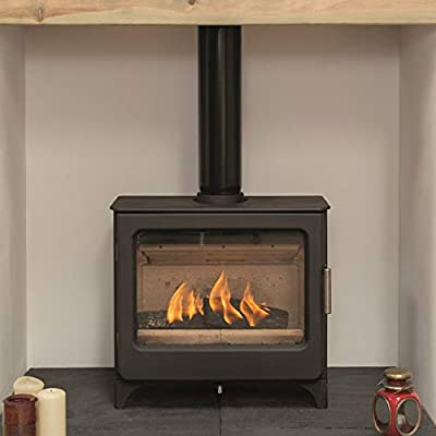 Mendip Ashcott Defra Approved Wood Burning Stove Log Store Glass Window 4.7kW