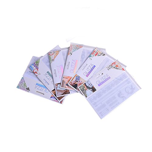 Knorrtoys GL7994 GLITZA Fashion Set - 6 Tattoo Sheets in verschiedenen Designs, 1er Pack (1 x 6 Stück)