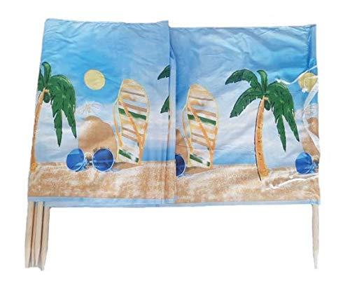 Windschutz Sonnenschutz Sichtschutz 8 M x 0,75 M Beach für Strand, Camping und Garten, inkl. Gummihammer