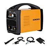 SUNCOO 110V ARC Welder, 160Amp Stick Welder Portable MMA AC Welding Machine with Work Clamp, Brush & Mask, Orange