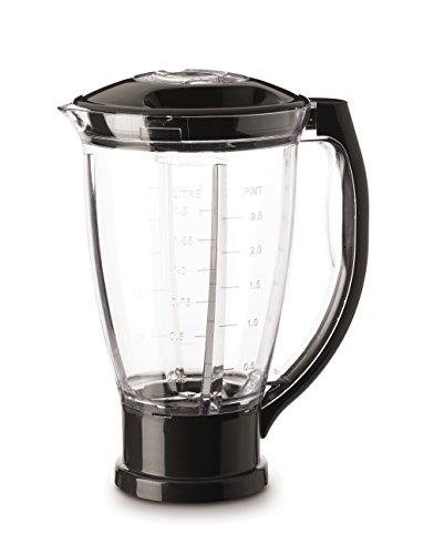 Moulinex XF634BB1 - Vaso para batidora, 1.5 L, plástico, negro/transparente