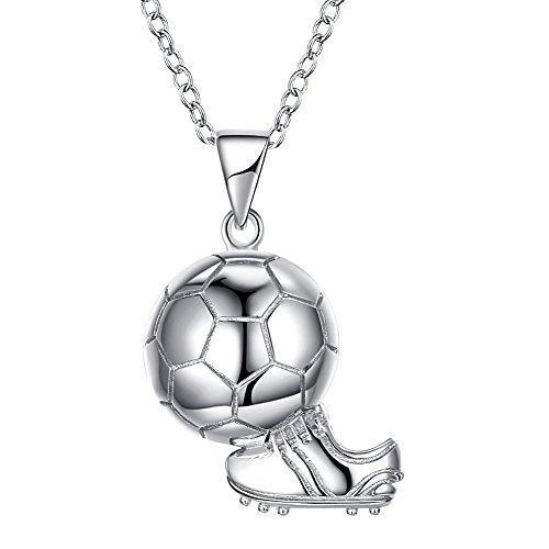 YAZILIND Mode 925 Sterling Silber Kette Schuhe Fußball World Cup Sport Anhänger Halskette für Frauen