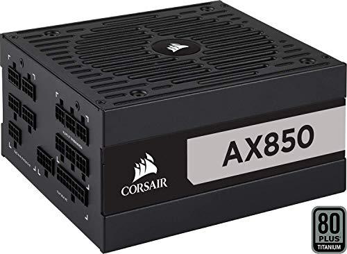 Corsair AX850, AX Series Vollmodulares 80 Plus Titanium Netzteil (850 Watt)  schwarz (EU)