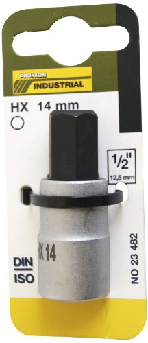 "Proxxon 23 482 Vaso y Punta Hexagonales de 1/2\"", Tamaño HX 14mm, Longitud Total 55mm"