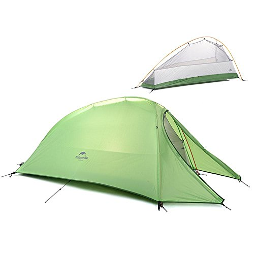 Camping Camping Ultra-léger Tiges en aluminium Double couche tente anti-pluie, 1/2/3 personne , green , single