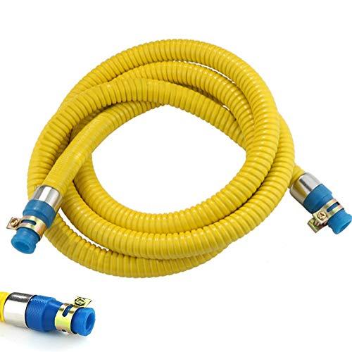 Propangasschlauch,Gasschlauch Schlauch Propan Butan Mit Klemme,Explosionsgeschützter Schlauch Für Gaswarmwasserbereiter Gasherd (Gelb),4M