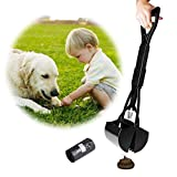 Beinhome Pooper Scoopers,23 inch Long One-Hand Use Foldable Dog Pooper Scooper with Waste