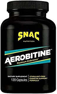 SNAC Aerobitine Stimulant Free Pre-Workout Formula for Maximum Endurance, 120 Capsules