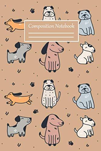 Composition Notebook: Cute Puppy Notebook,