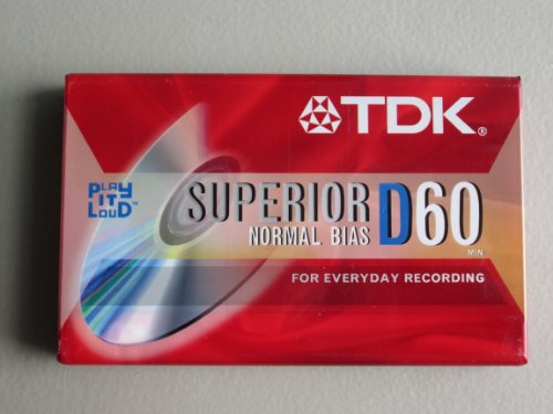 TDK Superior D60 Cassette Tapes (Box of 10 Tapes)