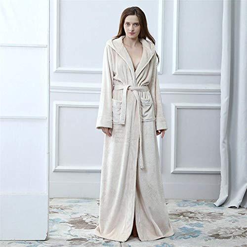 Crystallly flanel Verdickt capuchon Badjas paar badjas gewaad vest nachtjapon wit eenvoudige stijl pyjama huis reizen mode comfortabele pyjama