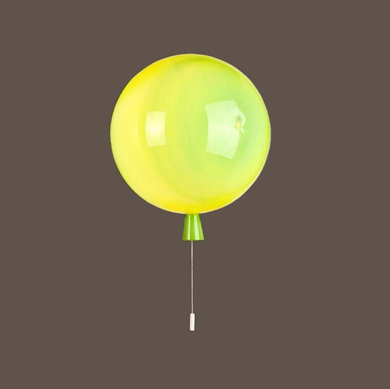 Ballon WandLeuchte Wandlampe Farbe Acryl Ziehe Linie Kunst 25cm LED Wohnzimmer Restaurant Kinder Schlafzimmer Gang Bar Cafe Innen, Grün