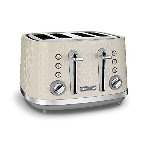 Morphy Richards Vector 4 Slice Toaster 248132 Cream Four Slice Toaster Cream Toaster