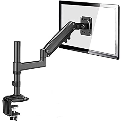 "ErGear 13""-35""/12KG Ultrawide Screen Gas Spring Monitor Arm Innovative Heavy Metal High Loading Monitor Stand Full Dynamic Motion Tilt +85°/-30° Swivel 180° Rotation 360° VESA 75/100mm"