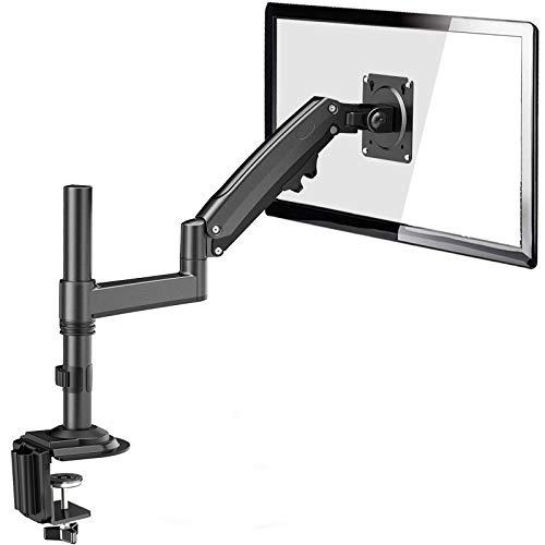 ErGear 13-35 Zoll Ultraweitbildschirm Schwerer Monitor Halterung Gasdruckfeder Vollbereichs-einstellbar Monitor Arm Neigung +85°/-30° Schwenkung 180° Drehung 360° VESA 75/100mm Gewicht Max 12KG