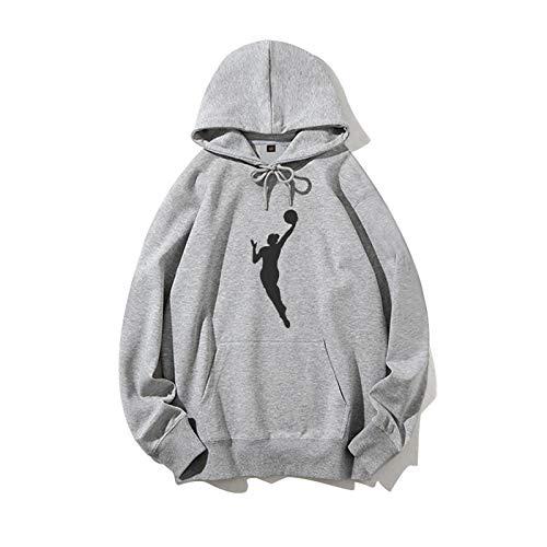FMJTXD Mamba Negra para Siempre!James el Mismo suéter Gris Sudadera Conmemorativa de Baloncesto Sudadera con Capucha Kobe Fanáticos de los Primeros Aniversarios Sudadera conmemorativa-LQY-C1365