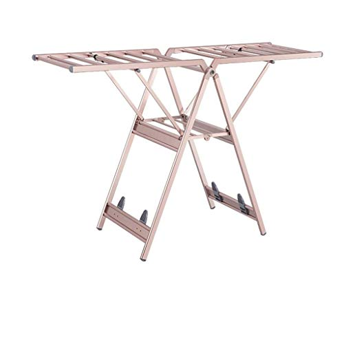JJYGONG Roses de Secado Estante de Secado de Aluminio, Plegable Hogar Multifuncional...