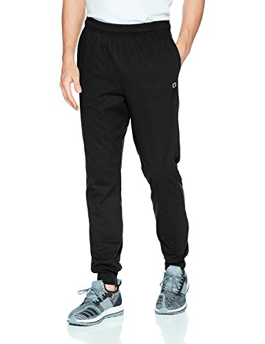 Champion Men's Jersey Jogger, Black, L