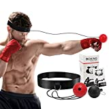 Boxen Training Ball, Boxing Reflex Ball Set Home Boxen Training Ball, Reflex Fightball, Punch Boxing Ball mit Kopfband,Reflex Speed Training und Hand-Auge Koordinationstraining(2 Ball)