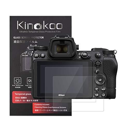 kinokoo Displayschutzfolie aus gehärtetem Glas für Nikon Z7 II, kristallklar, blasenfrei, kratzfest, 2 Stück