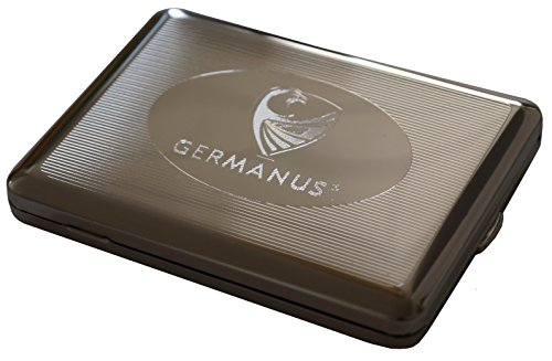 GERMANUS Zigarettenetui, Made in Germany, 100 mm, vernickelt Silber