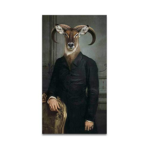 wZUN WANGART Lienzo Pintura Retro nostlgico Caballero Pintura al leo Mural Animal Cartel impresin decoracin del hogar 50x90cm Sin Marco