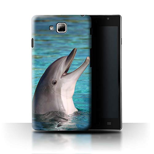 Stuff4 Hülle/Case für LG Optimus L9 II/D605 / Nettes Lachen Muster/Delfine Meereslebens Kollektion