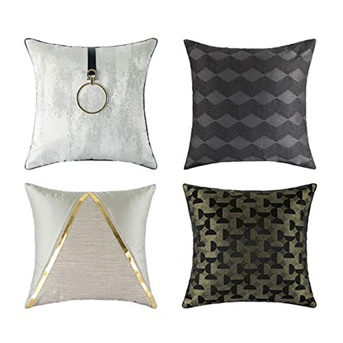 Jianghuayunchuanri Home Decorations Modern Throw Pillows Decorative Pillowcase for Couch Sofa Living Room Comfortable Square Pillow Case Set of 4 for Sofa Couch (Color, Size : 45x45cm)