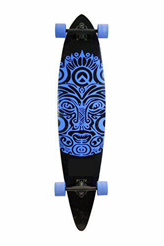 SCSK8 Natural Blank & Stained Assembled Complete Longboard Skateboard (Royal Blue, 40