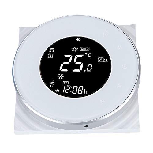Intelligente thermostaten voor thuis, WIFI thermostaat LCD touchscreen thermostaat voor vloerverwarming met tijdprogrammering / WiFi-functie, programmeerbare thermostaat