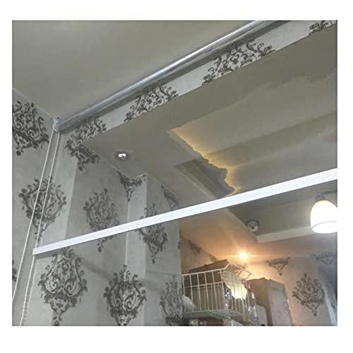 RZEMIN Tende a Rullo PVC Trasparente, Balcone Pergola Portico Finestra Tenda Impermeabile, Grandi Tende Avvolgibili Plastica Impieghi Gravosi, Dimensioni Personalizzate