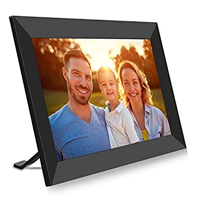 BIGASUO Digital Picture Frame - 10 inch Wi-Fi Auto Slideshow IPS Touch Screen 1280 x 800 Photo Frame, 16GB Large Memory Share Moments Instantly via Mobile APP, Support USB and SD Card