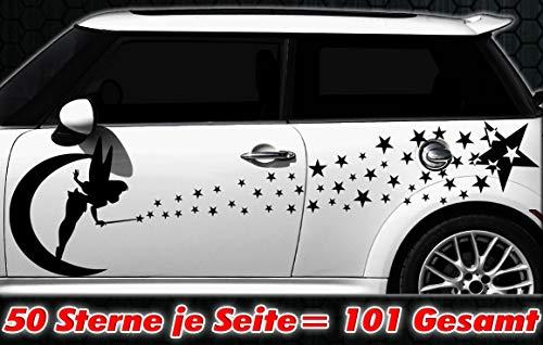 HR-WERBEDESIGN 101 Star Set de Stickers pour Voiture Motif étoiles