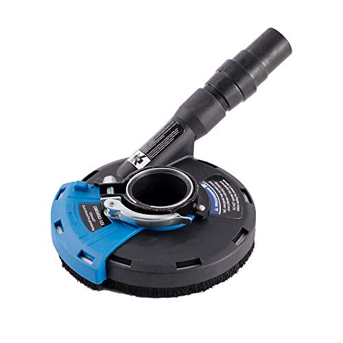 TR TOOLROCK Absaughaube mit Bürsten für 115mm und 125mm Winkeschleifer für Schleifarbeiten Absaugung mit Adapterringen und Staubsauger anschluss