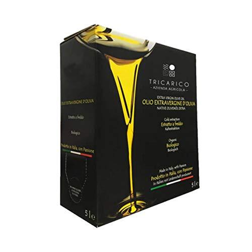 Don Giovanni Bio - 5 L - NUOVO RACCOLTO 2020 - Olio extravergine d'oliva BIO di Puglia, 100% Italiano, 100% Coratina, 5 litri, bag-in-box con rubinetto dosatore - Az. Agr. Tricarico