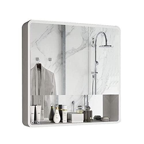 gabinetes Espejo de baño Creative LDF Baño de Pared Espejo de Madera...