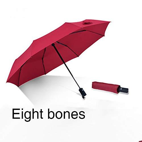 Mini Paraplu All-Male Auto Vouw Transparante Inpakpapier Samengestelde Vel S Barassi met E Guarda Chuva Sterke Leuke Paraplu Regen