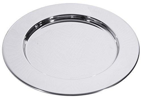 Platzteller aus Edelstahl, mit geschlossener Umlaufkante/Ø außen/innen: 30/20 cm, Höhe: 1,5 cm | ERK