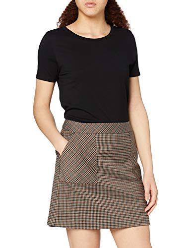 Marchio Amazon - find. - Check Suit Skirt, Gonna Donna, Marrone (Brown Check), 40, Label: XS