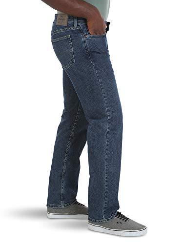 Wrangler Authentics Men's Relaxed Fit Comfort Flex Waist Jean, Dark Stonewash, 40W x 29L