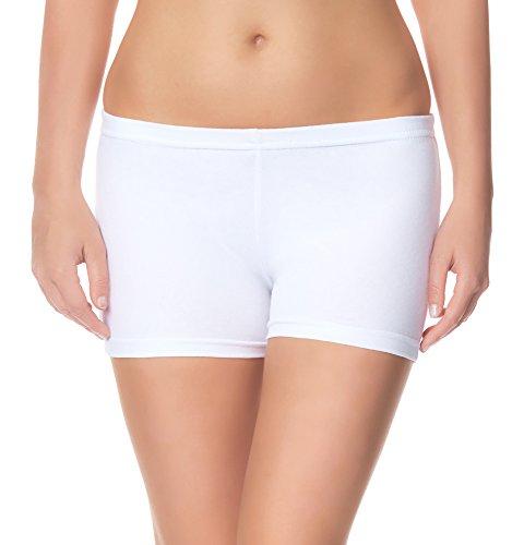 Ladeheid Pantalones Leggins Cortos Shorts Ropa Deportiva Mujer LAMA05 (Blanco11, 2XL/3XL)